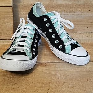 Converse two toned black and teal